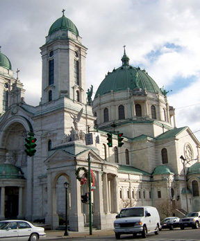 Our Lady of Victory Basilica main entrance